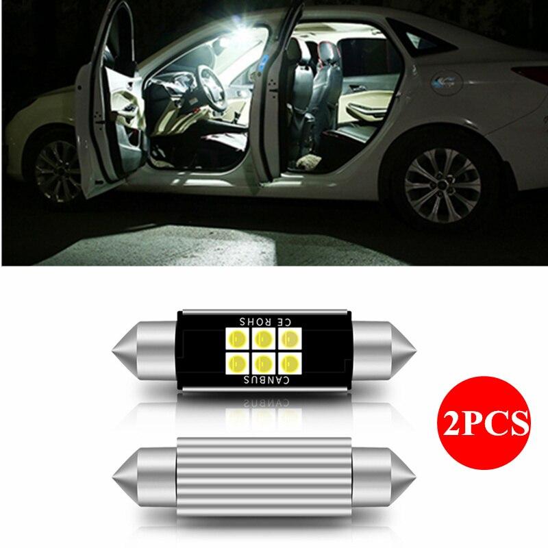 2 PCS Festão 31mm 36mm 39mm 42 milímetros Lâmpada LED C5W C10W Super Bright 3030 SMD Canbus livre de erros Auto Estilo Do Carro Da Lâmpada Interior Perdição