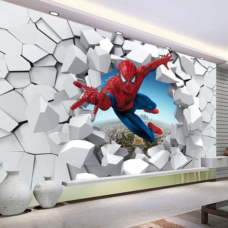 Custom Wallpaper 3D Creative Cartoon Themed Mural Children's Room Kindergarten Boys Room Bedroom Decoration Poster Wall Painting