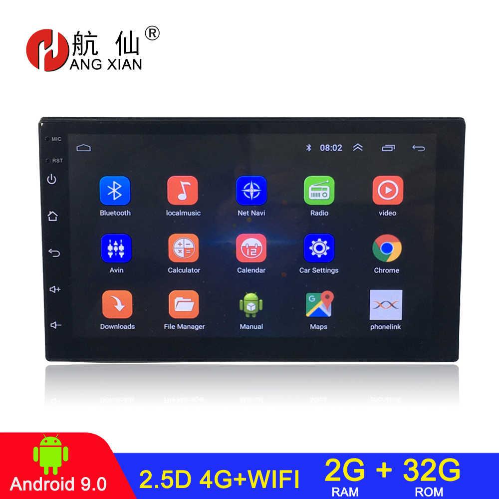 Android 9.0 2 DIN Mobil Radio Mobil Stereo untuk Universal Mobil Pemutar DVD Auto Radio Mobil Audio 2G + 32G 4G WIFI Internet Автомагнитола
