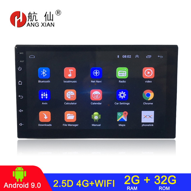 Android 9.0 2 din car radio car stereo For universal  car dvd player autoradio car audio 2G+32G 4G internet wifi автомагнитола