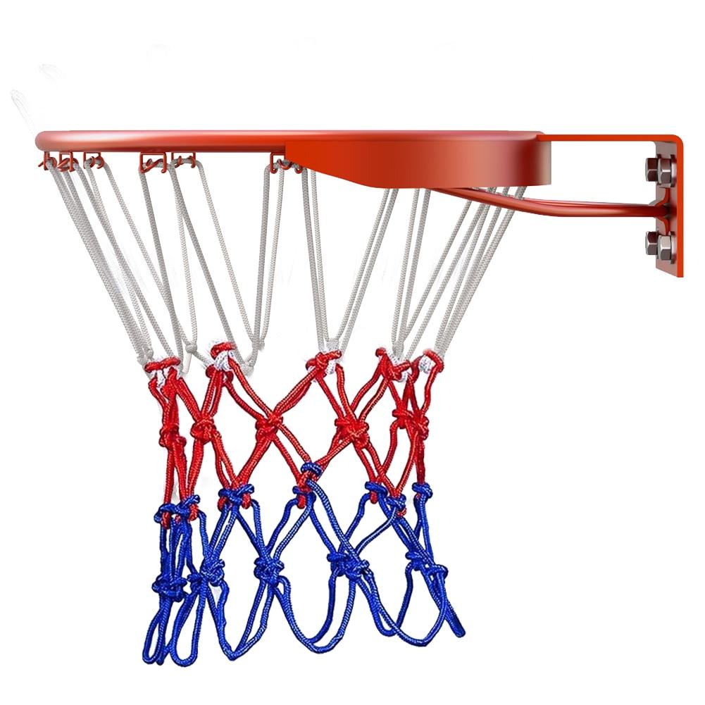 Сетка для баскетбола для спорта на открытом воздухе, стандартная нейлоновая нить, спортивный баскетбольный обруч, окаймление для баскетбол...