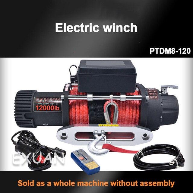 Tracteur électrique de véhicule/12,000 livres de treuil électrique/treuil dauto-sauvetage modifié par véhicule tout-terrain/grue à télécommande