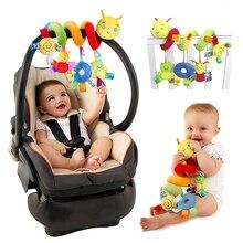 Baby Plüsch Rasseln Spielzeug 0-12 Monate Wiege Krippe Kinderwagen Hängen Spielzeug Cartoon Lion Mobile Rasseln Beschwichtigen Puppen bett Spielzeug