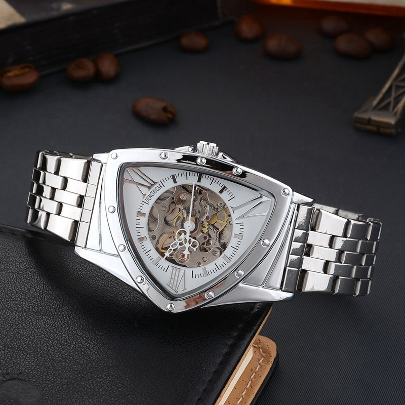 Hc502f1ef25ea4c599d72d5c44c6dfb51L Men Watch Hollow Triangular Mechanical Watches Stainless Steel Men's Wristwatches Fashion Brand Men Clock Male Dropshipping!!!