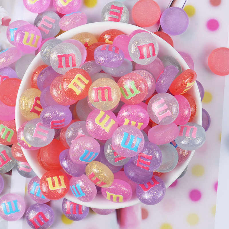 10pcs/set  Slime Charms Rainbow Mixed Candy Resin Plasticine Slime Accessories Beads Making Supplies For DIY Scrapbooking Crafts