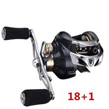 HobbyLane Fishing Equipment Portable Durable 18 Plus1 Bearing Left Hand Right Centrifugal Tuning Brake Low-key Reel
