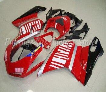 Formowanie wtryskowe nowy zestaw obudowy do motocykla ABS pasuje do Ducati 848 evo 1098 1198 2007 2008 2009 2010 2011 2012 Cool White Red