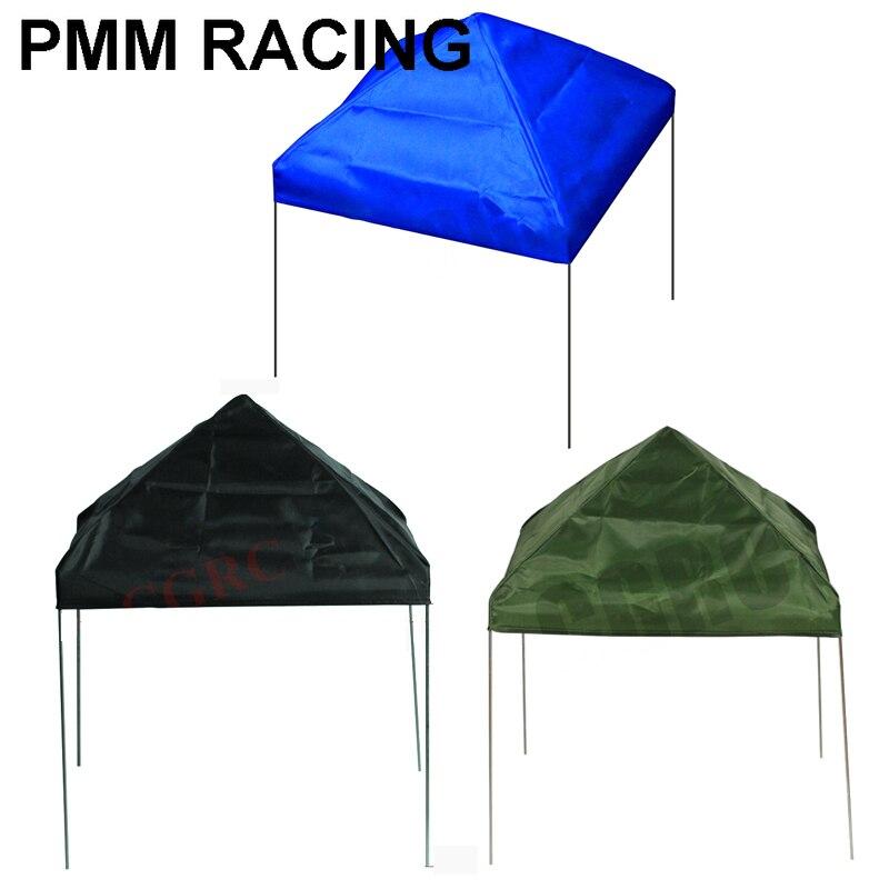 Mini Metal Bracket Canopy Shade Tent for 1/10 RC Crawler Car TRX4 TRX6 Axial Scx10 Drifting Auto 1/14 Tamiya Scania Benz MAN