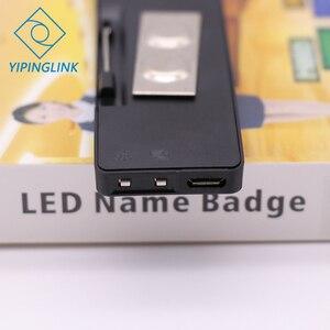Image 4 - Badge publicitaire LED portable, 7 couleurs, plaque signalétique usb, rechargeable, programme de changement avec application mobile, led Bluetooth