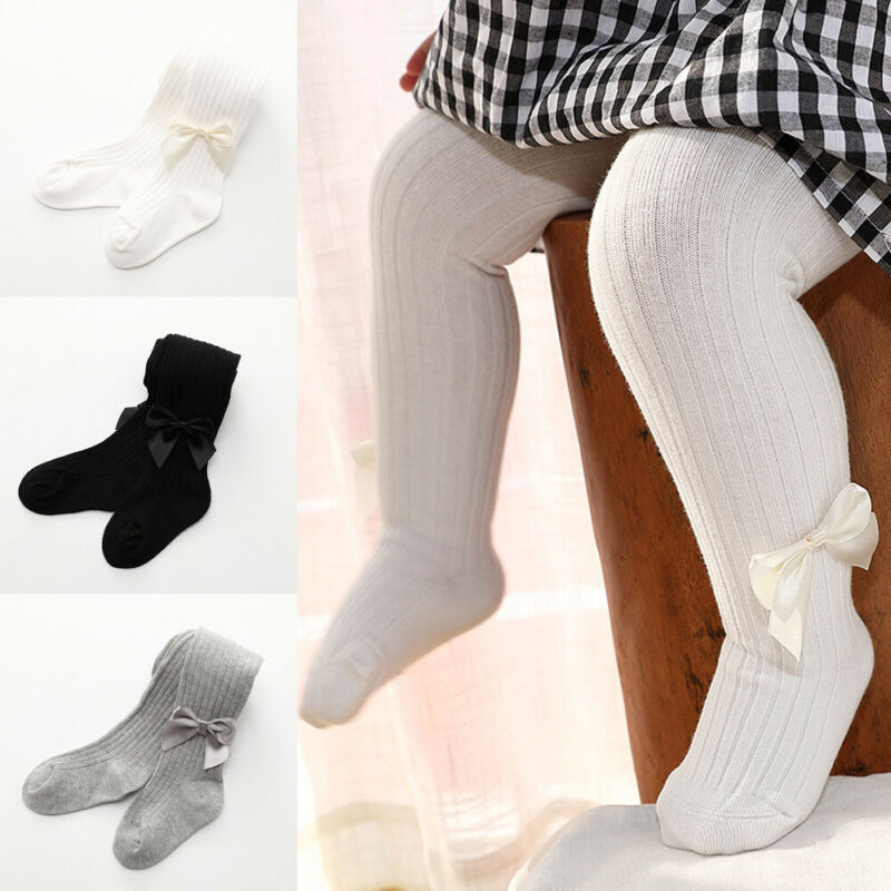 Pantyhose Tights Stockings Warm Cotton Solid For Baby Girls Toddler Kids