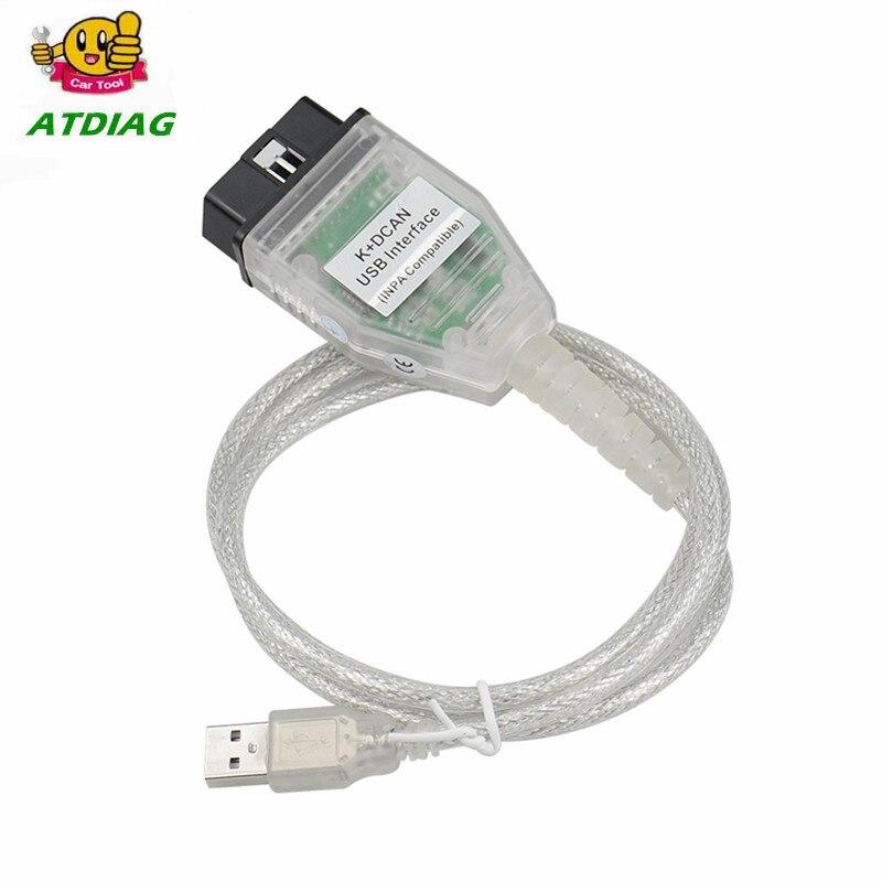 Nouvellement arrivé pour B-MW INPA K peut inpa k dcan USB OBD2 Interface INPA Ediabas pour B-MW