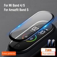 Pellicola protettiva per Amazfit Band 5 XiaoMi mi Band 5 4 pellicola proteggi schermo Mi Band 4 band5 vetro morbido prevenzione dei graffi