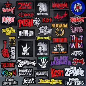 BAND DIY Clothe Embroidery PUNK MUSIC Patch Applique Ironing Clothing Sewing Supplies Decorative Badges Patches SK-xx010