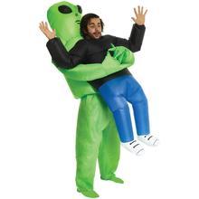 Alienígena traje monstro inflável assustador verde estrangeiro festa festival palco trajes de halloween para adultos crianças