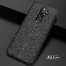 Wolfsay Soft TPU Case For Oppo A5 2020 Cases Oppo A9 (2020) Leather Te