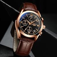 2021 LIGE New Fashion Mens Watches orologio al quarzo militare di lusso delle migliori marche orologio da uomo cronografo sportivo impermeabile in pelle Premium
