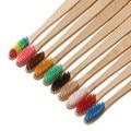 1PC Umwelt Bambus Holzkohle Gesundheit Zahnbürste Für Oral Care Teeth Reinigung Eco Medium Weichen Borsten Pinsel