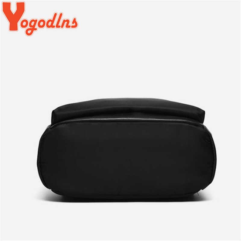 Yogodlns流行カジュアルオックスフォード布バックパックガールズシン小ナップサックスタイル高容量bagpack良質ジッパー固体デイパック
