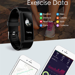 Image 5 - Smart Band Watch Fitness Tracker Bracelet IP67 Waterproof Smart Bracelet Heart Rate Blood Pressure Measurement Sport Smartband