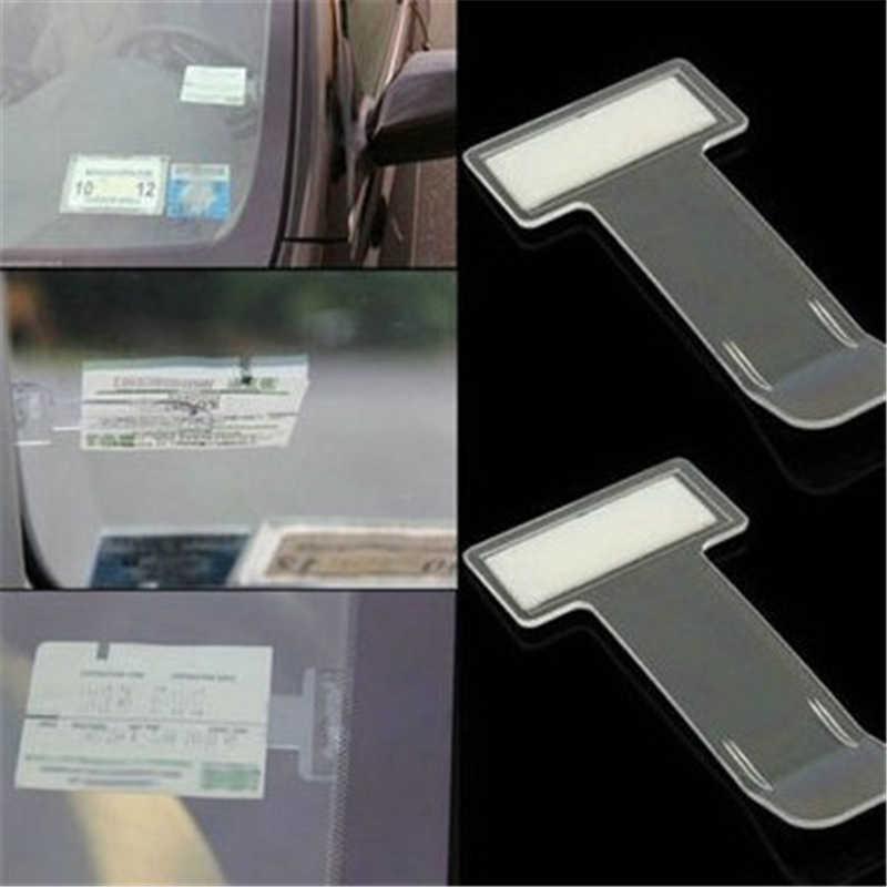 5 adet araba park bilet izni tutucu klip bilet klasörü zaman not tutucu T-şekil klasörü etiket için ön cam pencere otomatik