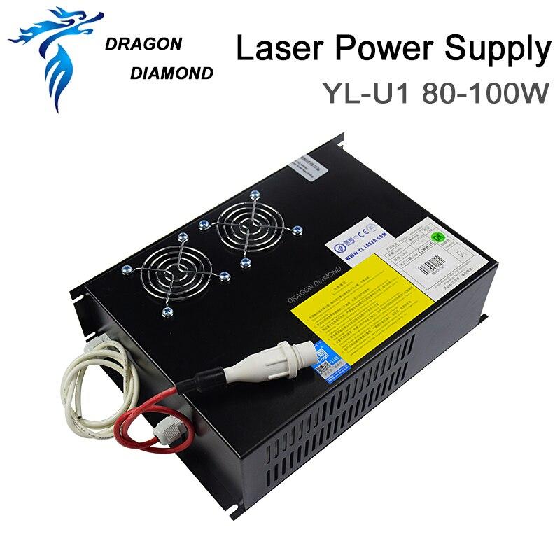 Fonte de Alimentação do Laser do Co2 para 80 Tubo do Laser do Co2 para a Máquina de Corte da Gravura do Laser do Co2 Yongli Laser Co2 80-100 w 100 do