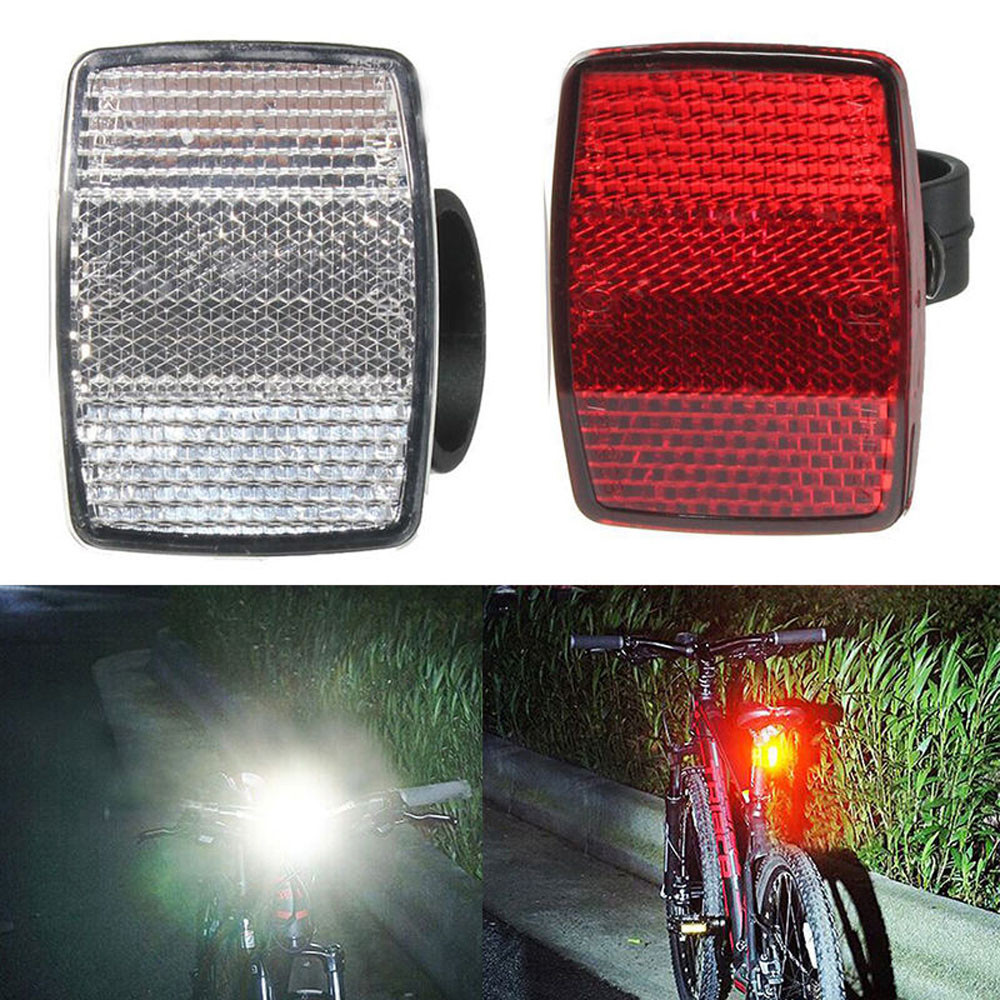 Bicycle Reflector Handlebar Mount Safe Reflector Bicycle Stickers Bike Front Rear Warning Red / White New Bicycle Accessories