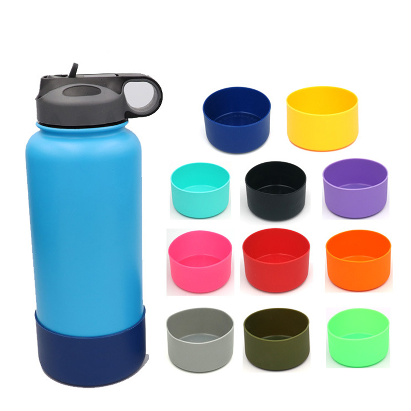 1*Slip-proof Water Bottle Silicone Boots Sleeves For 12&24oz (7.5cm)/ 32&40oz(9cm) Hydro Flask Bottle Lid Bottle Not Include!