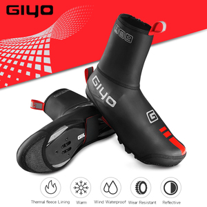 Image 4 - עמיד למים Windproof צמר רכיבה על אופניים כביש אופני מנעול נעלי מכסה תרמית אופניים רובוטים חורף כביש אופני נעלי כיסוי מגן