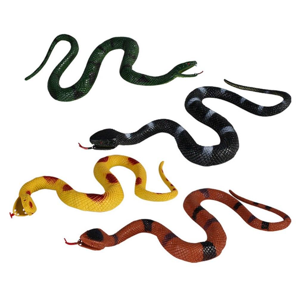 """52/"""" réaliste en caoutchouc souple Serpent Jouet Jardin Accessoires Blague Farce Cadeau Halloween Prop"""