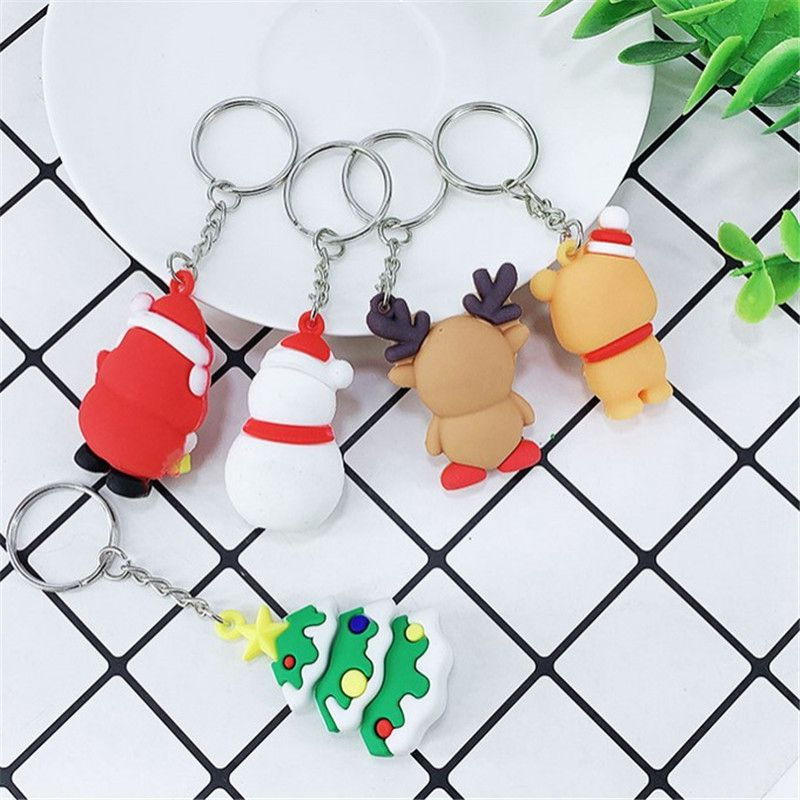 Details about  /Bag Car Key Ornament Christmas Keychain Pendant Creative PVC Silicone Small Gift