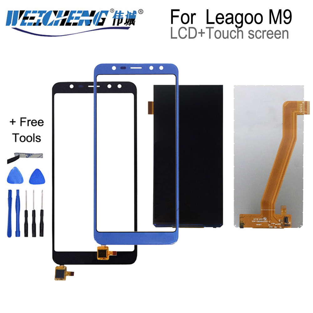 WEICHENG 640*1280 Quality Tested For Leagoo M9 LCD Display +Touch Screen Assembly For M9 Lcd Digitizer+free Tools
