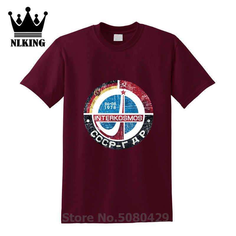 Yuri Gagarin Retro Lencana T Shirt Rusia Uni Soviet Uni Soviet Uni Soviet Eksplorasi Ruang Angkasa Rencana Tshirts Interkosmos Boctok Tee Top