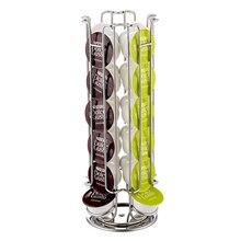Metal Coffee Pod Holder Iron Plating Chrome Stand Capsule Storage Rack for 18 pcs Sweet Taste
