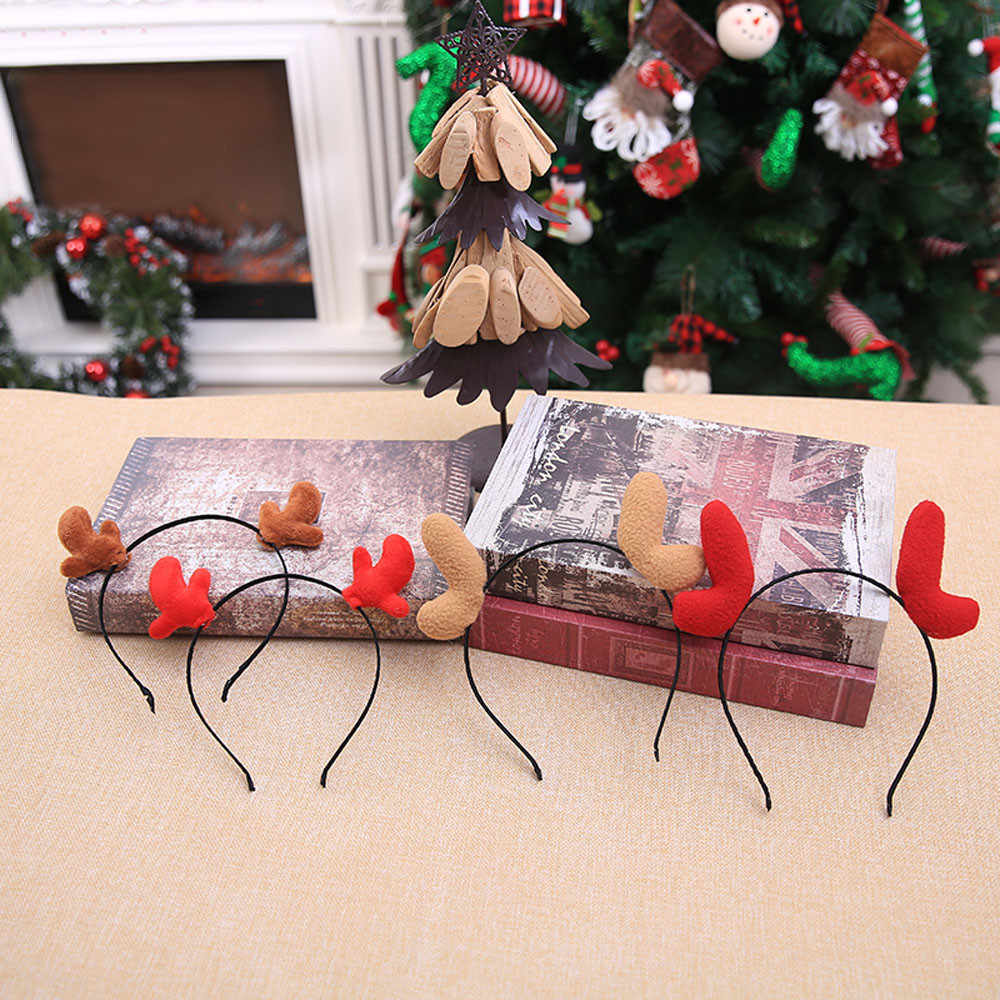 1pc Weihnachten waren dekoration Weihnachten Stirnband anhänger Doppel Haar Band Verschluss Kopf Hoop geschenk Party Decor haar accessoriesF924