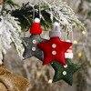 Christmas Felt Star Christmas Tree Decorations Hanging Pendant New Year 2021 Christmas Ornament Christmas Decorations for Home