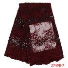 Wine Red Sequins Lac...