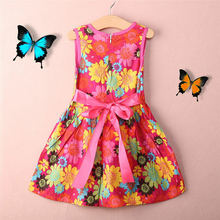 HOT! Toddler Kids Girls Summer Princess Floral Lace Pierced Party Dress Age 2-7Y high quality baby girls lace wedding dress child pastoral style floral dress 2 7y toddler girls backless summer clothing 2017