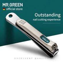 MR.GREEN-cortauñas de acero inoxidable, cortador de cuchillas curvadas, tijeras de uña, herramientas de manicura, recortador con limas para uñas