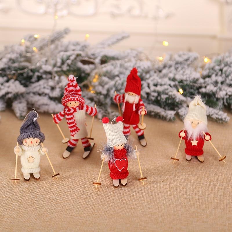 8Season Santa Claus Decoration Christmas Dolls Cute Snowman Deer Shaped Doll Festival Gift