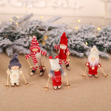 8Season Santa Claus Decoration Christmas Dolls Cute Snowman Deer Shaped Doll Festival Gift