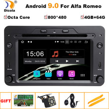 CAR ANDROID 9.0 DVD GPS PLAYER FOR ALFA ROMEO 159 SPORTWAGON SPIDER BRERA Navigation Auto Radio Stereo WIFI 4GB+64GB Octa Core(China)