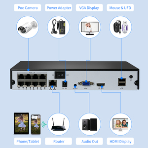 Image 4 - Hiseeu H.265 4/8CH POE NVR Security IP Camera Video Surveillance CCTV System P2P ONVIF 5MP2MP Network Video Recorder Face Detect