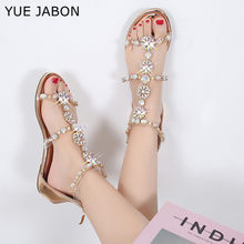 2020 tylny suwak kryształ Boho sandały kobiety przezroczyste pcv frezowanie sandały na płaskim obcasie kobiety Bohimia plaża sandały buty Plus rozmiar 43
