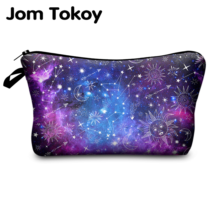 Jomtokoy New Women Constellation Printing Makeup Bags Cosmetics Pouchs For Travel Ladies Pouch Women Cosmetic Bag
