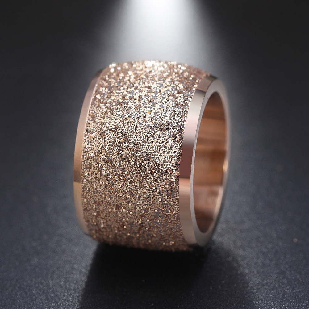 New Jewelry Titanium Steel Ring Ladies Fashion Prom Accessories