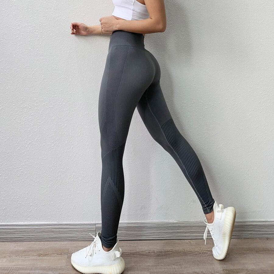 BINAND Push Up Seamless Yoga Leggings Sports Women Fitness Running Sport Leggings Slim Yoga Pants Dry Fit Training Gym Leggings