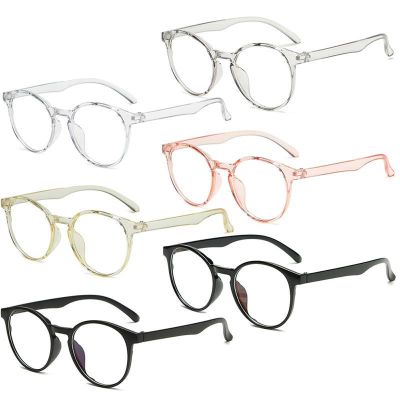 Women Men Classic Transparent Round Anti Blue Rays Glasses Clear Lens Myopia Eyeglasses Optical Spectacle Frames Goggles Eyewear