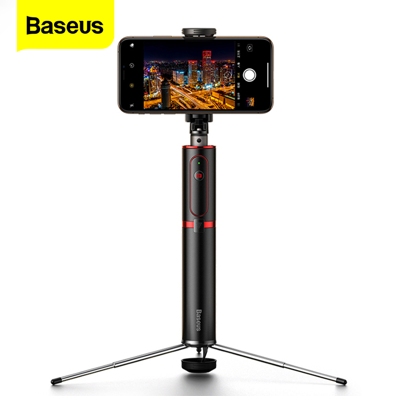 Baseus Bluetooth Selfie bâton trépied sans fil auto-bâton pour iPhone 11 Xiaomi mi Huawei Samsung téléphone portable Selfiestick monopode