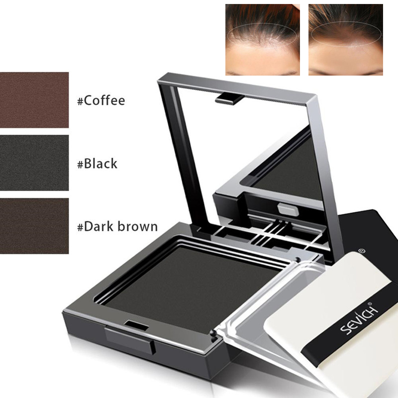 3 Colors Hair Line Powder Waterproof Hair Shadow Powder Hair Concealer Hairline Edge Powder Instantly Cover Up With Puff Sevich