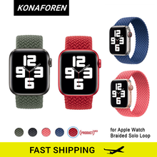 Loop-Strap Watch-Band Braided Solo Bracelet Fabric for Apple 38mm 42mm 40mm 44mm 6-Se
